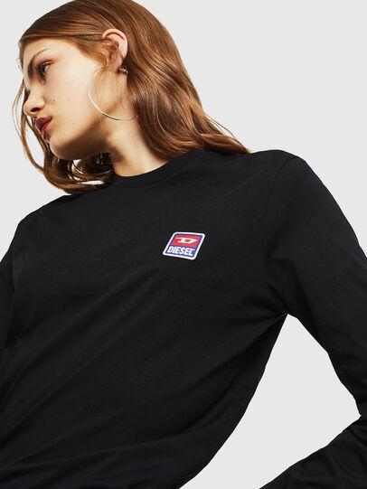 Diesel - T-DIEGO-DIV-LS, Nero - T-Shirts - Image 6