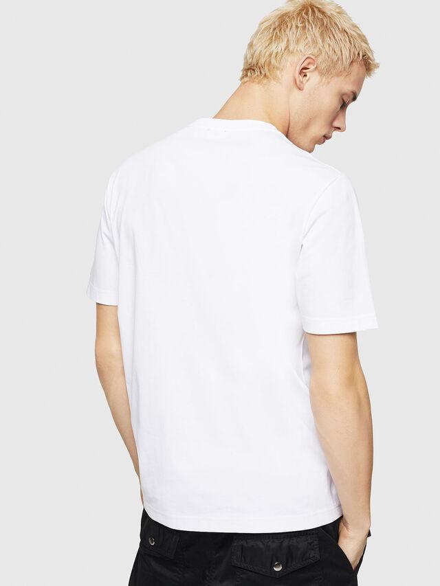 Diesel - T-JUST-DIVISION-D, Bianco - T-Shirts - Image 2