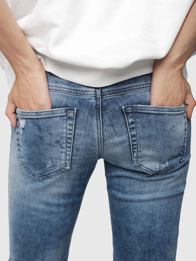 Diesel - Gracey JoggJeans 080AS, Blu medio - Jeans - Image 3