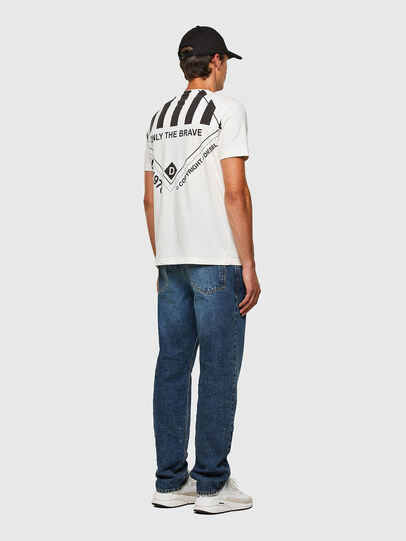 Diesel - T-JUST-N40, Bianco - T-Shirts - Image 8