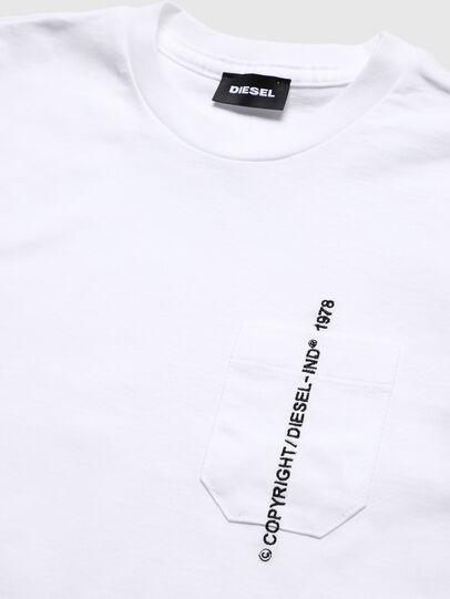 Diesel - TJUSTPOCKETCOPY, Bianco - T-shirts e Tops - Image 3