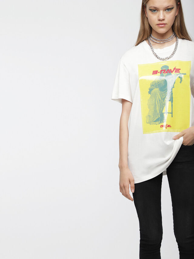 Diesel - T-DARIA-C, Bianco - T-Shirts - Image 1