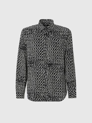Camicia in lyocell con stampa con catene