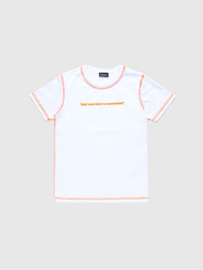 Diesel - TJUSEAM, Bianco - T-shirts e Tops - Image 1