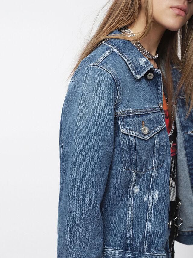 Diesel - DE-VELVET, Blu Jeans - Giacche in denim - Image 4