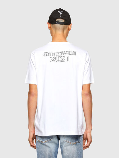 Diesel - CL-T-JUST-O1, Bianco - T-Shirts - Image 3