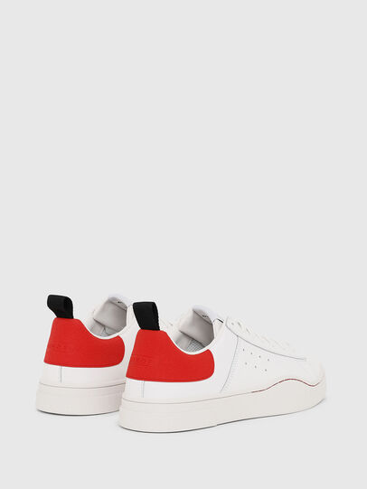 Diesel - S-CLEVER LOW, Bianco/Rosso - Sneakers - Image 3