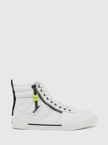 Sneaker alte con inserti in pelle scamosciata