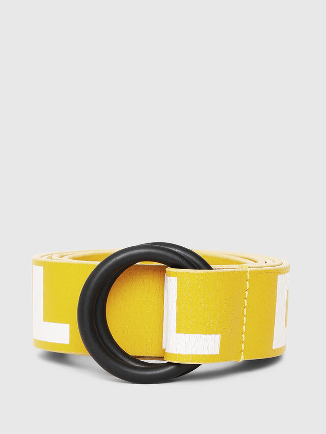 Diesel - B-LETTER, Giallo - Cinture - Image 1