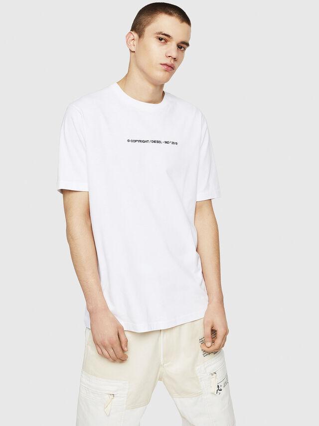 Diesel - T-JUST-COPY, Bianco - T-Shirts - Image 4