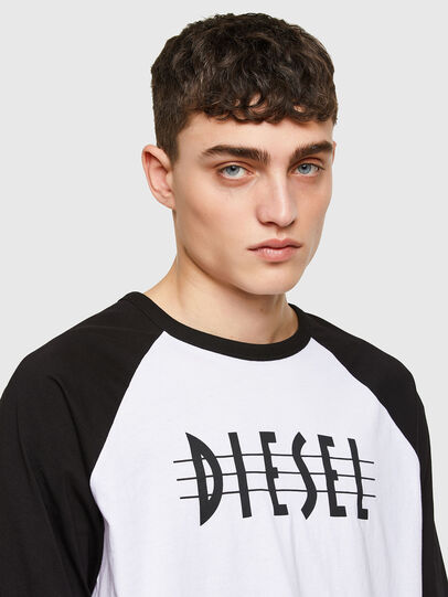 Diesel - T-BEISBOL, Bianco - T-Shirts - Image 3