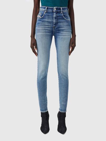 Diesel - Slandy High 09B09, Blu Chiaro - Jeans - Image 1