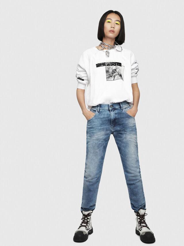 Diesel - Krailey JoggJeans 080AS, Blu medio - Jeans - Image 4