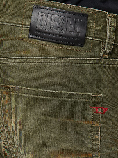 Diesel - D-Strukt 069PT, Verde Militare - Jeans - Image 4