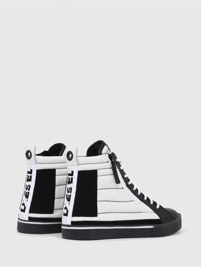 Diesel - D-VELOWS MID PATCH, Bianco/Nero - Sneakers - Image 3