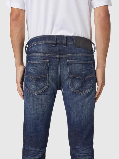 Diesel - Sleenker 09A85, Blu Scuro - Jeans - Image 4
