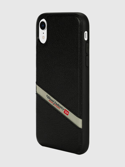 Diesel - DIESEL LEATHER CO-MOLD CASE FOR IPHONE XR, Nero - Cover - Image 5