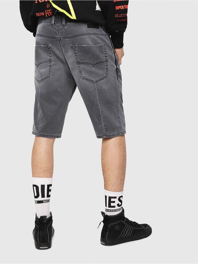 Diesel - D-KROOSHORT JOGGJEANS, Nero/Grigio scuro - Shorts - Image 2
