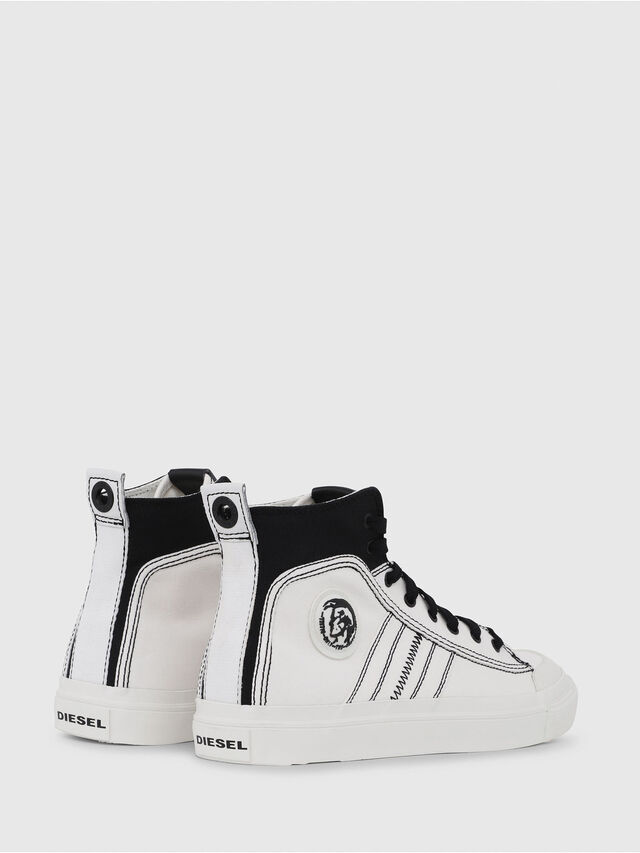 Diesel - S-ASTICO MID LACE, Bianco/Nero - Sneakers - Image 3