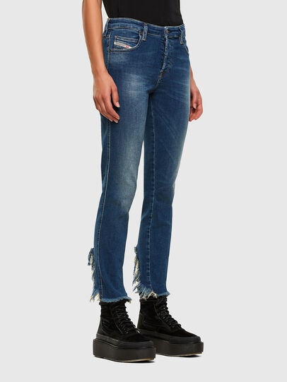 Diesel - Babhila-Zip 009EZ, Blu medio - Jeans - Image 5