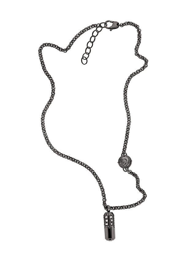 Diesel - NECKLACE DX1026, Fumo - Collane - Image 1