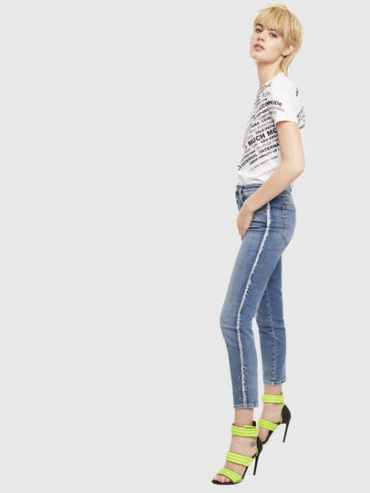 Diesel - T-SILY-S1, Bianco - T-Shirts - Image 4