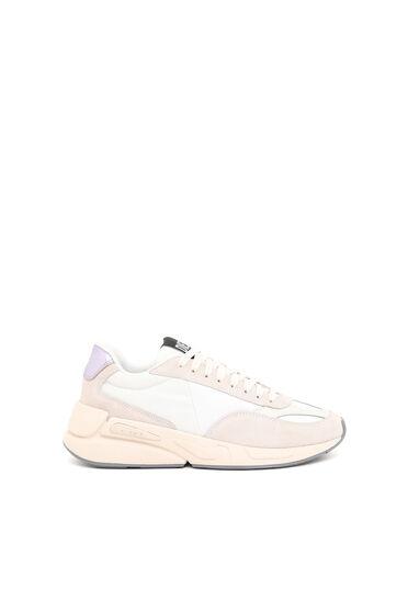 Sneaker in nylon e camoscio