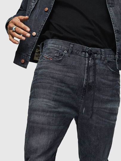 Diesel - D-Vider JoggJeans 0090H, Blu Scuro - Jeans - Image 3
