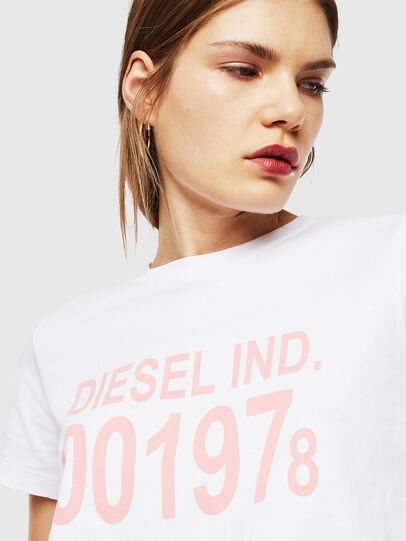 Diesel - T-SILY-001978, Bianco - T-Shirts - Image 3