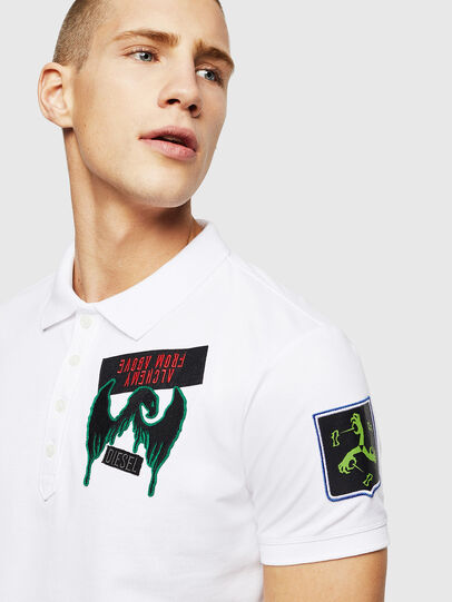 Diesel - T-POLO-PATCHES, Bianco - Polo - Image 2