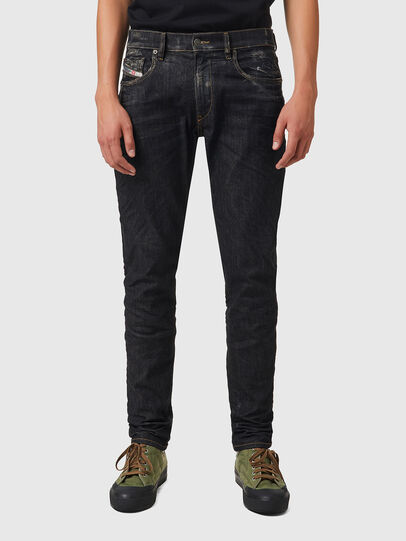 Diesel - D-Strukt 09A87, Nero/Grigio scuro - Jeans - Image 1