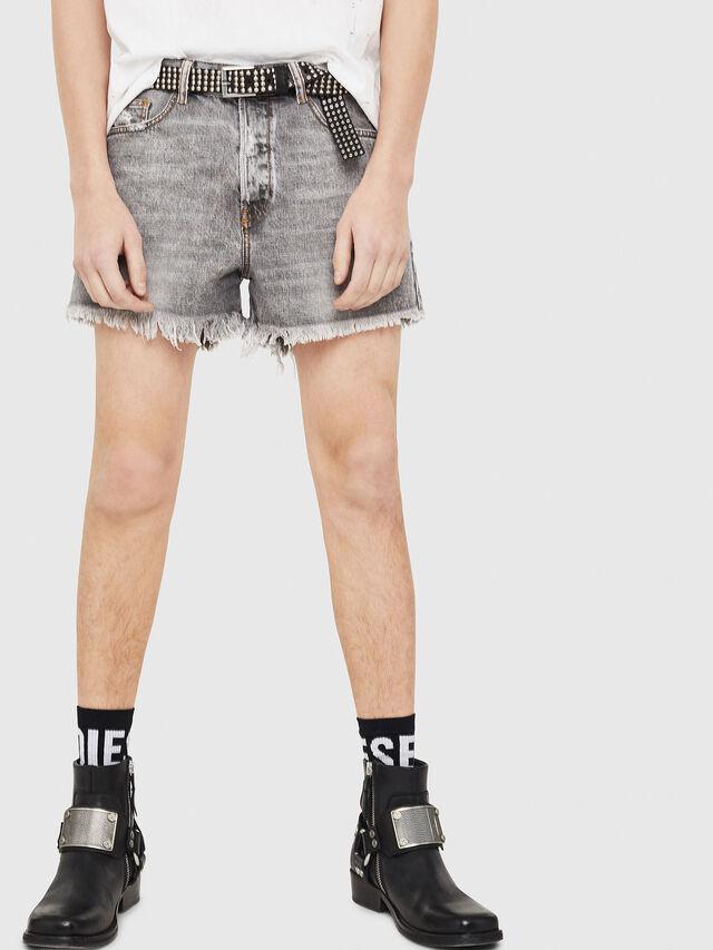 Diesel - D-KORT, Grigio Chiaro - Shorts - Image 1