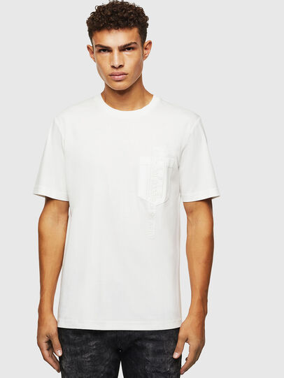 Diesel - T-JUST-POCKET-J1, Bianco - T-Shirts - Image 1