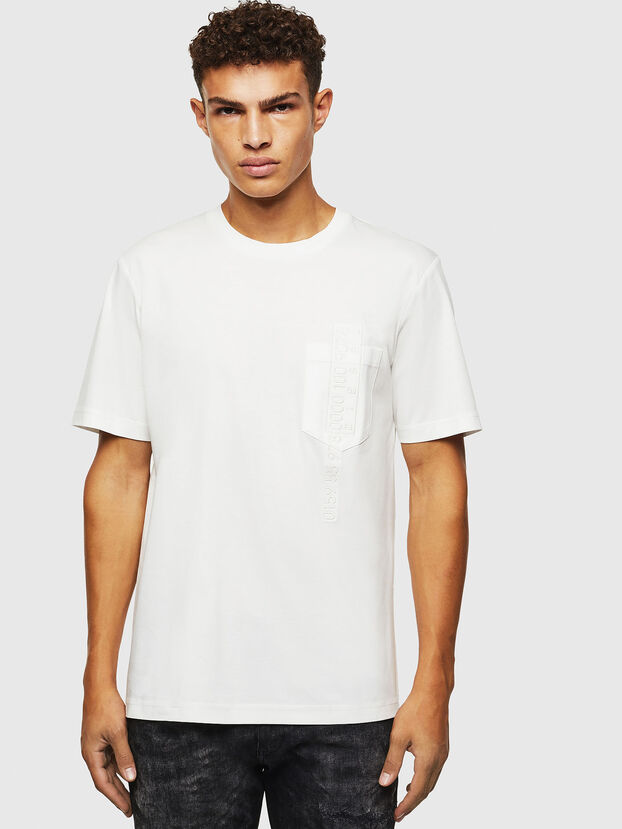T-JUST-POCKET-J1, Bianco - T-Shirts