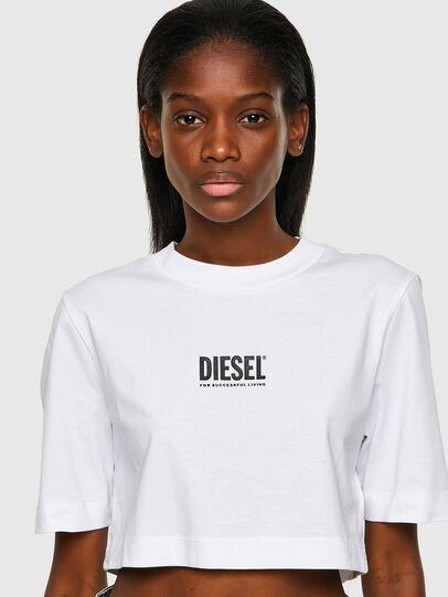 Diesel - T-RECROP-ECOSMALLOGO, Bianco - T-Shirts - Image 3