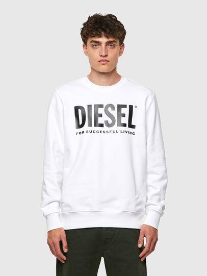 Diesel - S-GIRK-ECOLOGO, Bianco - Felpe - Image 1
