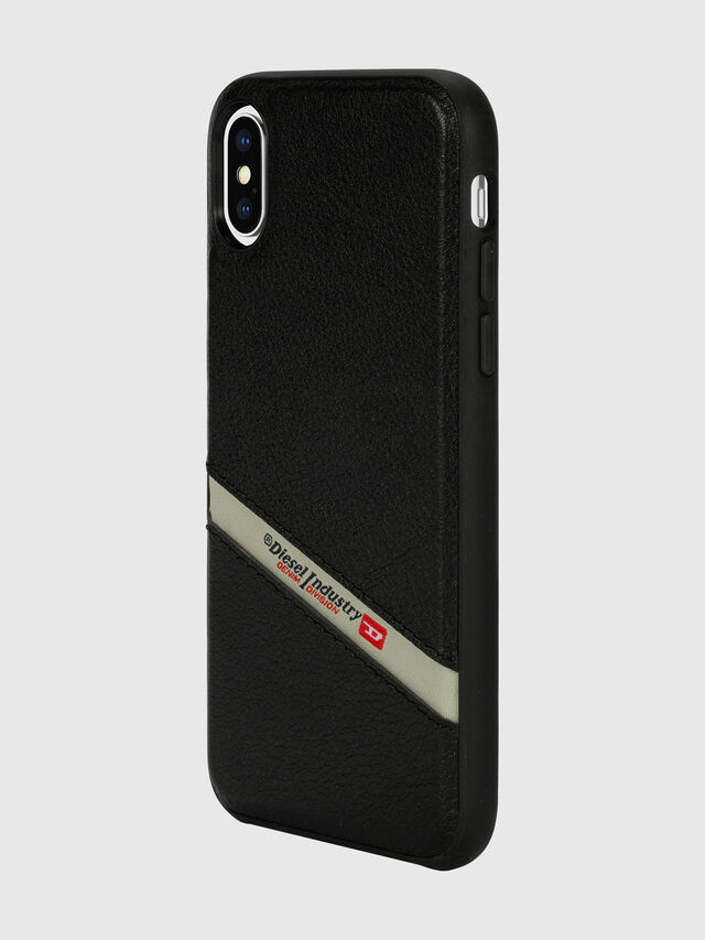 Diesel - DIESEL LEATHER CO-MOLD CASE FOR IPHONE XS & IPHONE X, Nero - Cover - Image 5