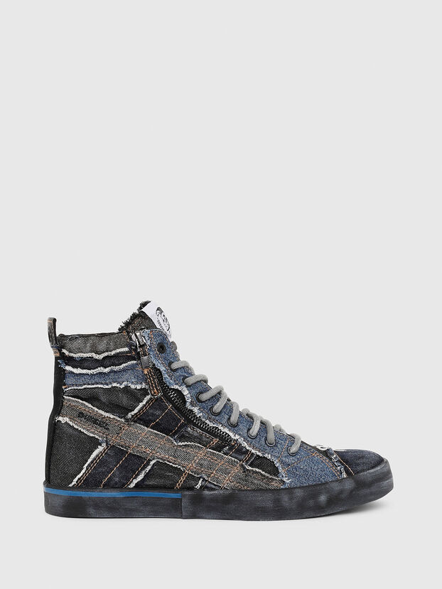 D-VELOWS MID LACE, Nero/Blu - Sneakers
