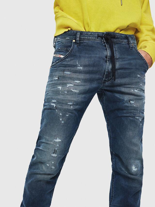Diesel - Krooley JoggJeans 069HA, Blu medio - Jeans - Image 3