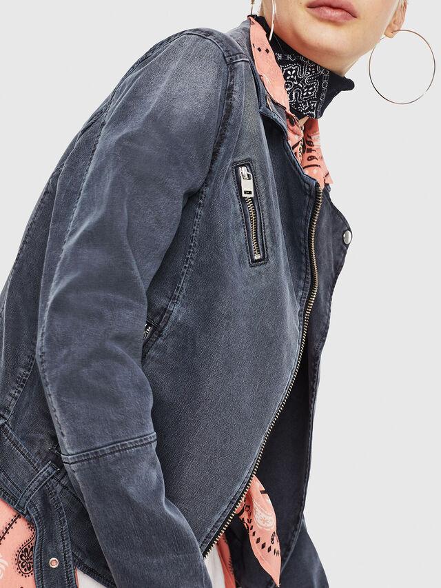 Diesel - KERBIZ JOGGJEANS, Nero Jeans - Giacche in denim - Image 4