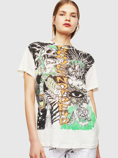 Diesel - T-DARIA-YB, Bianco - T-Shirts - Image 1