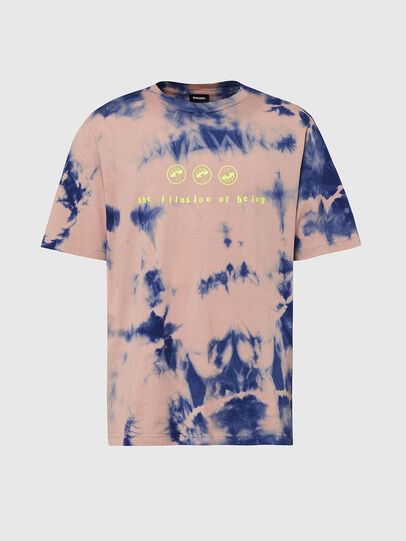 Diesel - T-JUST-SLITS-X86, Rosa/Blu - T-Shirts - Image 1