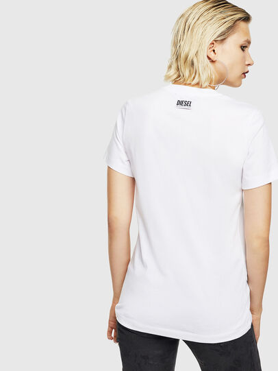 Diesel - T-SILY-YB, Bianco - T-Shirts - Image 2