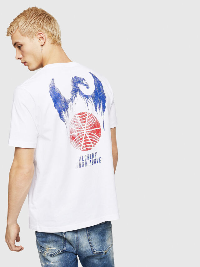 Diesel - T-JUST-A4, Bianco - T-Shirts - Image 2