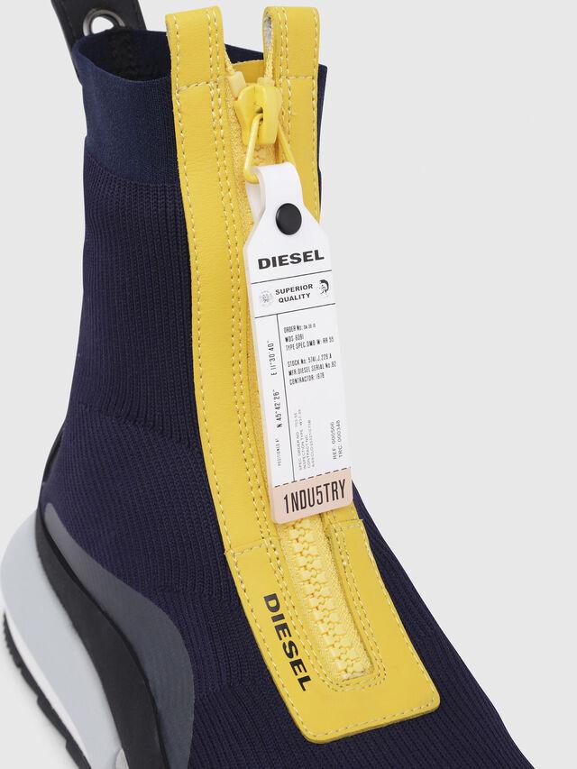 Diesel - H-PADOLA MID ZIP, Blu/Giallo - Sneakers - Image 4