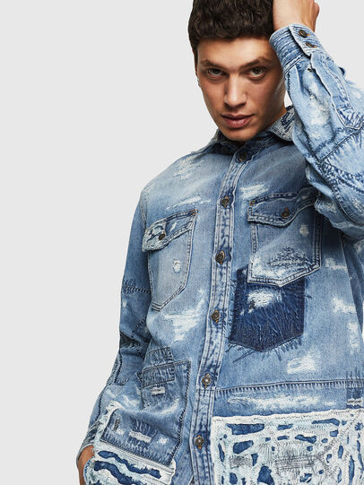 Diesel - D-HISAKY-SY, Blu Jeans - Camicie in Denim - Image 7