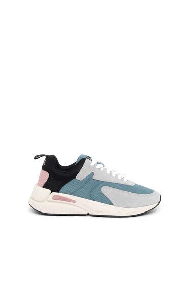 Sneaker in tessuto antistrappo e pelle scamosciata