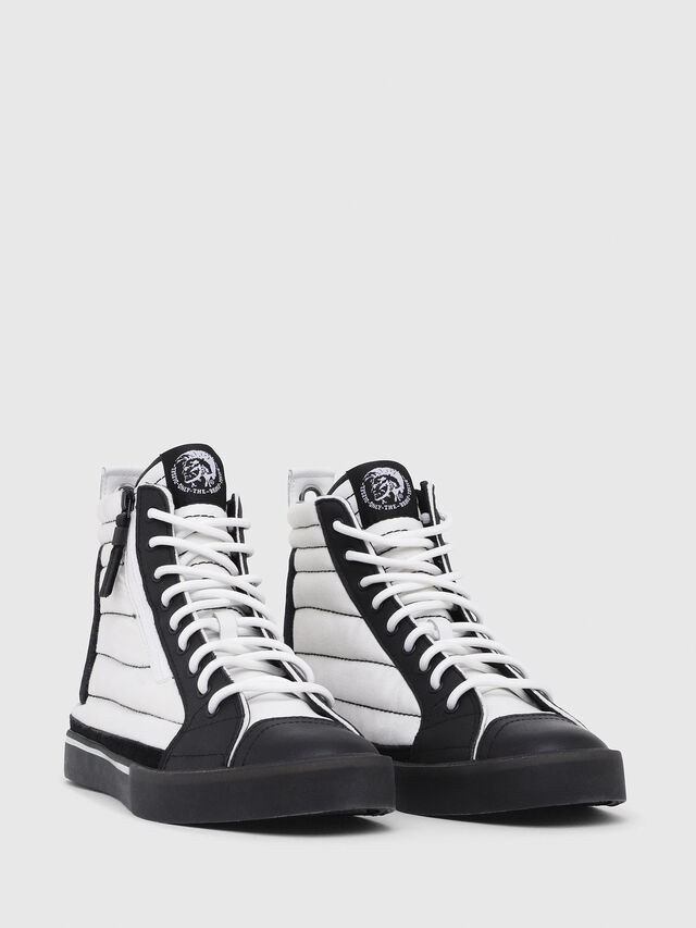 Diesel - D-VELOWS MID PATCH, Bianco/Nero - Sneakers - Image 2