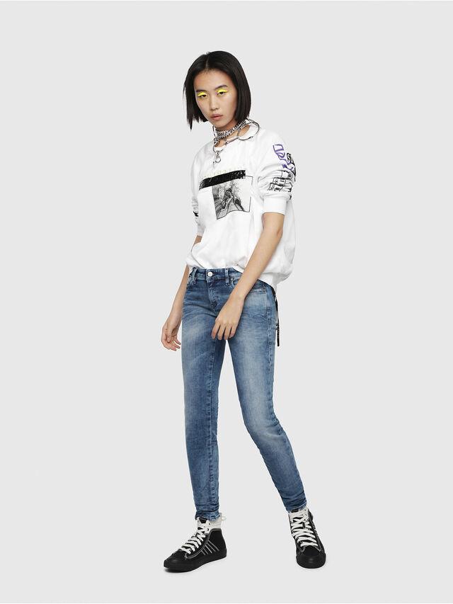 Diesel - Gracey JoggJeans 080AS, Blu medio - Jeans - Image 4