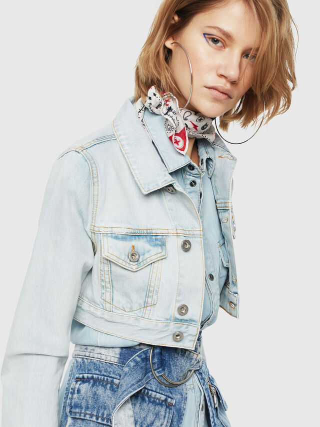 Diesel - DE-ZAUPY, Blu Jeans - Giacche in denim - Image 1